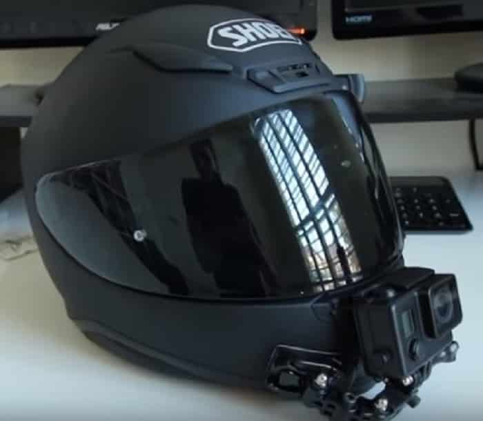 Is it legal to mount a GoPro on a motorcycle helmet