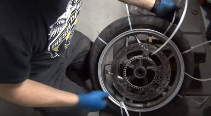How To Change A Motorcycle Tire With Zip Ties Beginners Tip