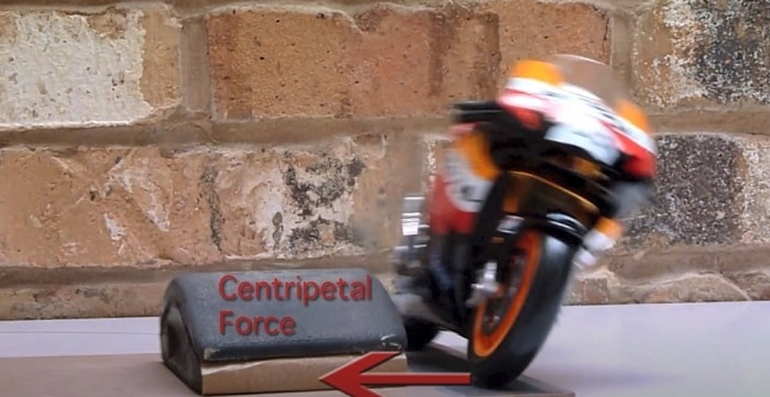 Why do motorcyclists lean into a corner